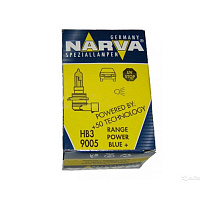 Лампа галогенная Narva Range Power Blue (RPB) +30% HB3 (P20d) 12V 60W