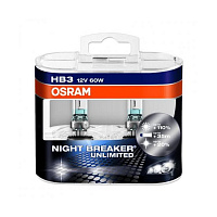 Лампа галогенная Osram Night Breaker Unlimited +110% HB3 (P20d) 12V 60W DuoBox (2шт.)