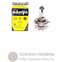 Лампа галогенная Narva Range Power Blue (RPB) +30% H4 (P43t) 12V 60/55W