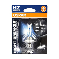 Лампа галогенная Osram Night Breaker Unlimited +110% H7 (PX26d) 12V 55W DuoBox (2шт.)