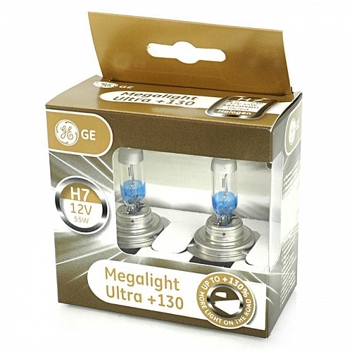 Лампа галогенная General Electric Megalight Ultra +130% H7 (PX26d) 12V 55W (2 шт.)